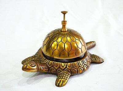 Antique Look Tortoise Bell Desk Victorian Hotel Home Decor Decoration Gift