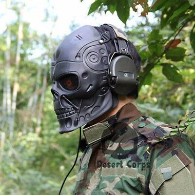 Terminator Mask Paintball Airsoft Sports Plastic Tactical Mask Protective Gear X
