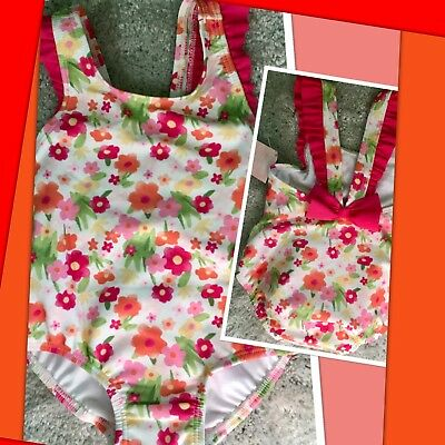 NWT 6-12 Mos Gymboree BABY LIONESS 1pc Swimsuit waterproof diaper LINER Floral