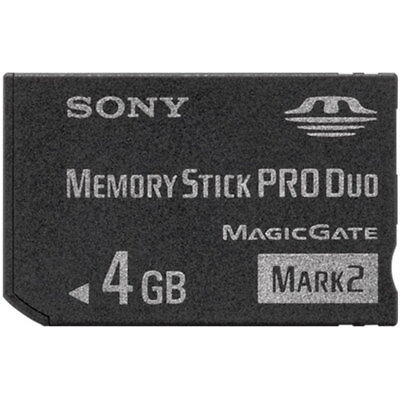 Sony 4GB Memory Stick PRO Duo Memory Card For Digital Cameras New
