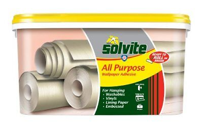 Solvite Ready To Roll - Papel para pared multipropósito (5 rollos, autoadhesivo