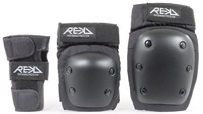 REKD New Adult Heavy Duty Triple Skateboard/Inline/scooter/Derby Skate Pad Set