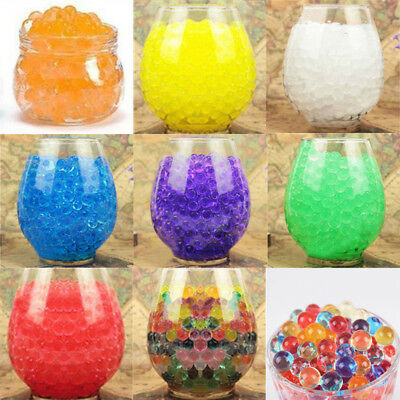 10000X Water Bullet Balls Toys Pistol Growing Crystal Soil Water Beads Mud Decor