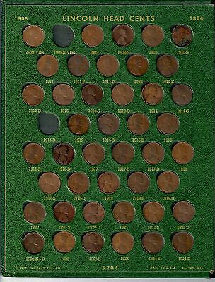 MY BOYHOOD LINCOLN PENNY COLLECTION 1909-1971, except 1909 SVDB, 14-D, 22, 31-S