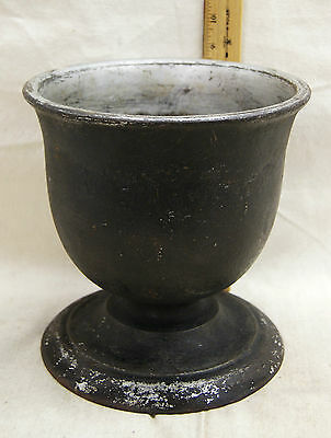 Huge 19th Century Cast Iron Apothecary Mortar Vessel Medicine  18 pounds