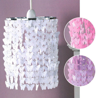 Floating Butterfly Chandelier Pendant Easy-Fit Ceiling Lightshade Girls Bedroom