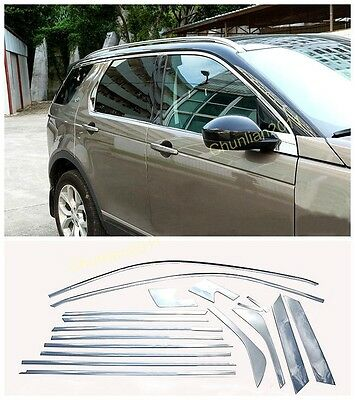 Without Pillars Window Frame Sill Trim for 2015-2017 Land Rover Discovery Sport