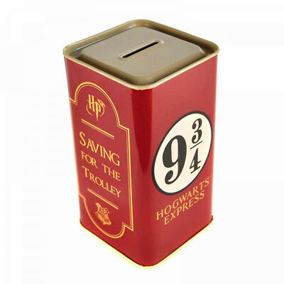 Harry Potter Platform 9 3/4 Metal Money Tin Piggy Bank Box Hogwarts Express