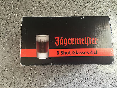 JAGERMEISTER ~ SET OF 6 Pack 1oz ~ FROSTED SHOT Glasses