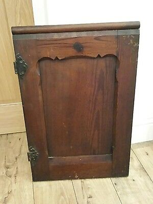 2 Solid pitch pine church pew ends doors panels  various sizes reclaimed heavy
