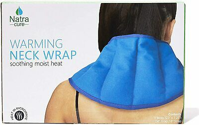NatraCure Warming Neck Wrap – Microwaveable Moist Hot Pack & Heated Pain Relief