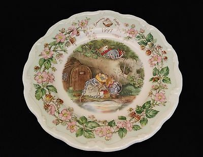 Royal Doulton Brambly Hedge 1997 Rare Year Plate, Excellent Condition
