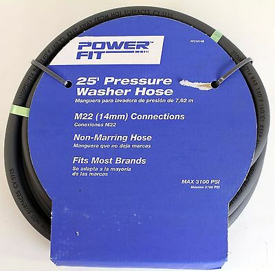 "POWERFIT 25' Pressure Washer Hose (1/4"" X 25') NEW IN PACKAGE"