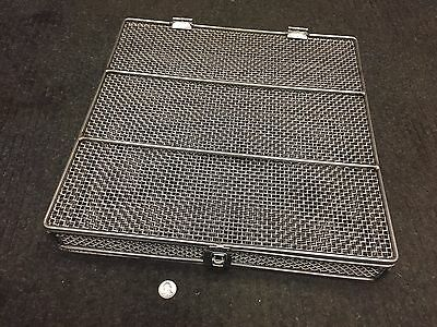 """3"""" x 18"""" x 18"""" Heavy Duty Industrial Stainless Steel Basket Wire Mesh Cage"""
