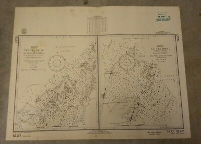 Vintage Nautical Chart: Bahamas Ship Channel Exuma Sound. 1960 U.S. Navy