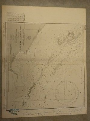 Vintage Nautical Chart: Bahamas Whale Cay & Green Turtle Cay. 1960 U.S. Navy