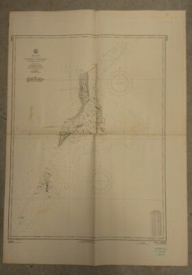 Vintage Nautical Chart: Turks Islands. 1961 U.S. Navy Hydrographic
