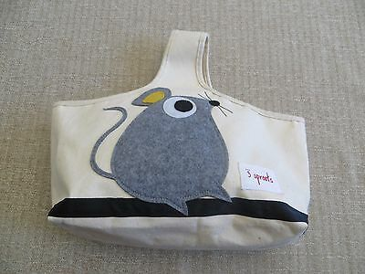 3 Sprouts Mouse Caddy Storage Bag Unisex Infant Baby Storage Diapering USED