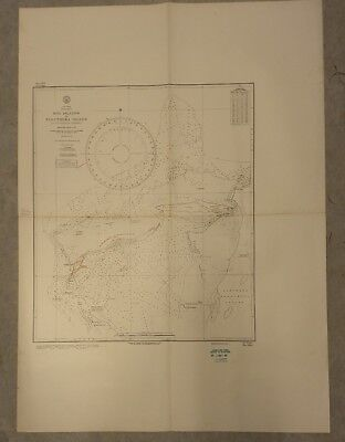 Vintage Nautical Chart: Bahamas, Egg Island to Eleuthera. 1960 Navy Hydrographic