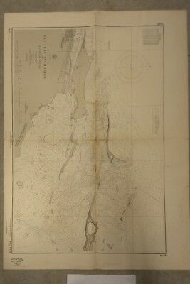 Vintage Nautical Chart: Bahamas Salt Cay & Hanover Sound, 1961 Navy Hydrographic