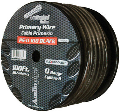 NIPPON  PS0100BK Audiopipe Flexible Power Cable 0 Ga. 100 Ft. Black