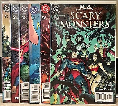 JLA Scary Monsters #'s 1 2 3 4 5 6 COMPLETE SERIES Justice League America JSA DC