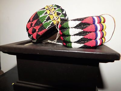 South African Beaded Bracelets c.1895-1910, one pair