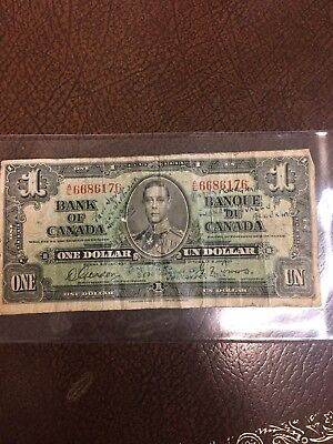 1937 Bank of Canada 1 Dollar Note