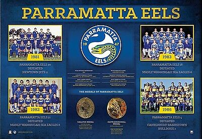 Parramatta Eels Historical Series Official Nrl Limited Print Hindmarsh Printonly