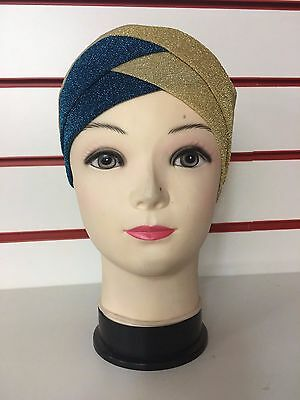 Ladies Glitter Shimmer Bonnet Caps Hijab Underscarf Caps UK SELLER BEST PRICE