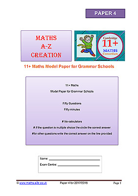 11+ Plus Maths Papers for Competitive Grammar School Exams: Paper 3 & Paper 4