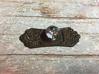 1 Ornate Cast Iron Door Drawer Door Pull Beautiful Antique Style With Clear Knob