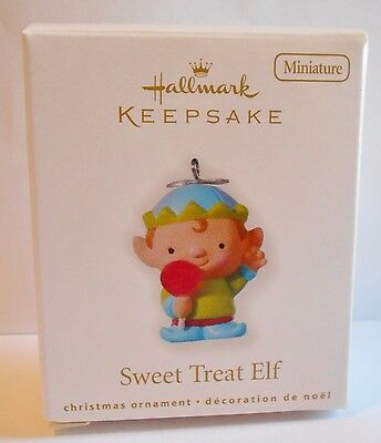 "2010 Hallmark Keepsake Ornament ""Sweet Treat Elf"" Lollipop MIB"