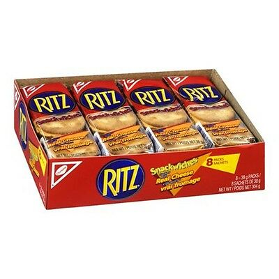 5 Packs Ritz Snackwich Real Cheese Crackers 8x38g (304g) - Total 40 Sachets