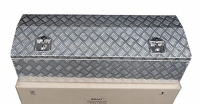"Aluminum 44"" x 15"" Truck Tongue Tool Box for Pickup Trailer RV Storage"