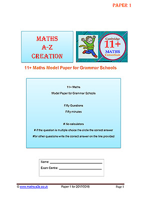 11+ Plus Maths Papers for Competitive Grammar Sch Exams: Book With 2 Sets Papers