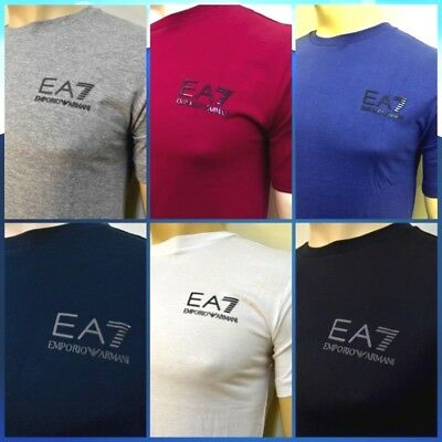 Emporio Armani Mens EA7 Crew Neck Slim Fit T-Shirt Short Sleeve 6 Colour