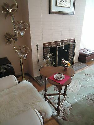 Vintage Ethan Allen Maple Wood Cloverleaf Coffee End Table