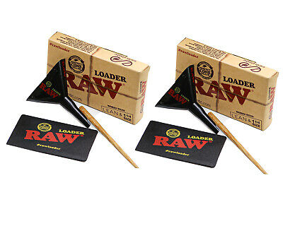 NEW RAW Rolling Papers Lean/1 1/4 Cone Loader  - 2 PACK