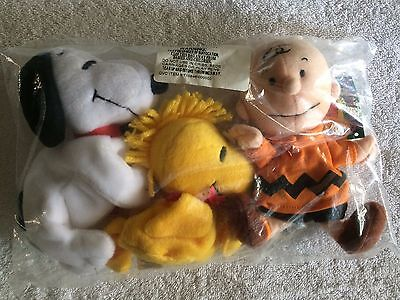 "SNOOPY, WOODSTOCK & CHARLIE BROWN 5-7"" Beanbags Sealed Package! NEW! FREE SHIP!"