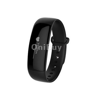 Smart Watch Blood Pressure Heart Rate Monitor Fitness For IOS Android Black