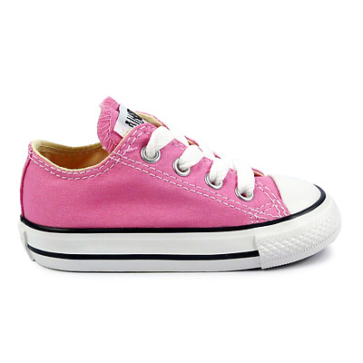 Converse All Star Chuck OX 7J238 Canvas Pink Kids Baby Toddler Shoes