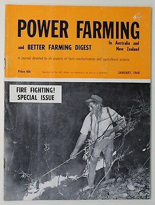 VINTAGE Agriculture: Power Farming Magazine January 1968 Vol 77 No 1, Good