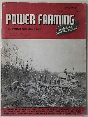 VINTAGE Agriculture: Power Farming Magazine May 1953 Vol 62 No 5, Fair