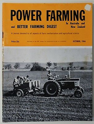 VINTAGE Agriculture: Power Farming Magazine October 1966 Vol 75 No 10, Good