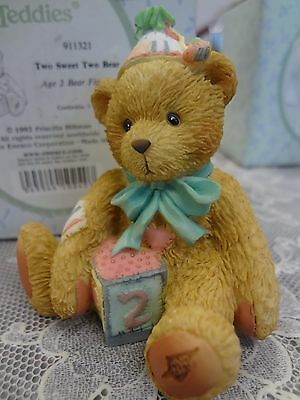 "Cherished Teddies Second birthday Bear ""Two sweet two bear""    NIB # 911321"