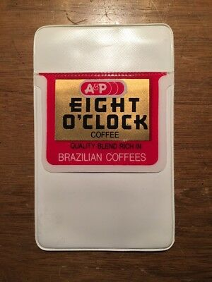 VIntage A&P Supermarket Grocery Store Pocket Protector Eight O'Clock Coffee