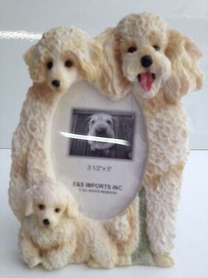 Poodle Dog 3x5 Picture Frame By E&S Imports ~NEW~