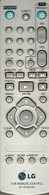 Lg Vcr And Tv Remote Control Model 6711R1P073B Very Good Condition
