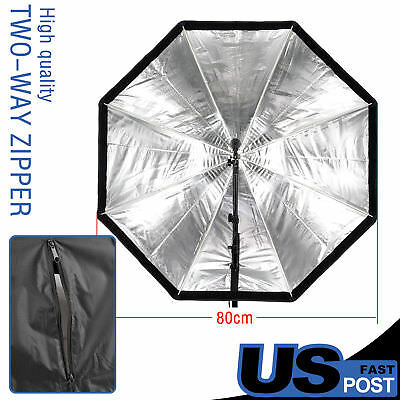 "80cm 32"" Octagon Umbrella Softbox Brolly Reflector for Flash Speedlite US LOCAL"